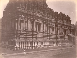 View from the south-west of the façade of the Subramanya Shrine of the Brihadishvara Temple, Thanjavur 10032444